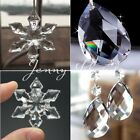 10/50Pcs Clear Snowflakes Crystal Glass Beads Chandelier Ornaments Xmas Decor