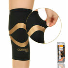Copper Fit Pro Series Compression Knee Sleeve Gym Sport Protector Brace Black US