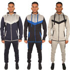New Mens DL FUNK Sports Gym Jogging Full Top Bottom Hooded Hoodie Tracksuit Set