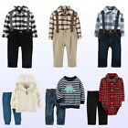 Carters Baby Boys Set Sweater or Bodysuit & Jeans /Pants Suspender /Tie Sets New