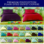 NON IRON Percale Plain Dyed Duvet Cover with Pillowcase Quilt Cover Bedding Set.