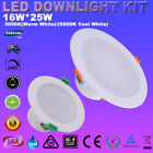 6X16W 25W LED Downlights Kit Dimmable Ceiling Down Lights Recessed Samsung LEDs