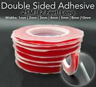 25M RED Film DOUBLE SIDED STICKY ADHESIVE TAPE 1mm 2mm 3mm 4mm 5mm 8mm 10mm