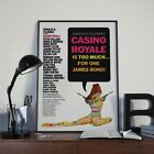 Vintage 007 James Bond Casino Royale Movie Film Poster Print Picture A3 A4 £3.92 GBP