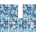 Camouflage Camo Digital Pixelated Blue - Light Switch Covers Home Decor Outlet
