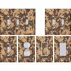 Camouflage Camo Digital Pixelated Brown - Light Switch Covers Home Decor Outlet
