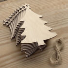 kids christmas ornaments crafts - 10Pcs Wooden Christmas Tree Kids Crafts Hanging Ornaments Xmas Decoration Newly