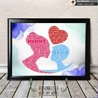 PERSONALISED MUM & BOY LOVE NEW BABY SHOWER GIFT PREGNANCY NEWBORN WORD ART