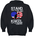 Stand for the Flag Kneel for the Cross Hoodie - Hoodie