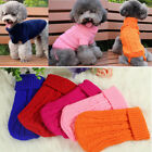Pet Dog Cat Knitted Jumper Sweater Coat Puppy Clothes Solid Color