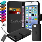 Leather Book Wallet Stand back Flip Case Cover For Cell Apple iPhone 4 5 5C & SE