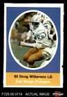 1972 Sunoco Stamps Doug Wilkerson Chargers EX/MT $1.6 USD