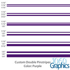 "Double Pinstripes (PURPLE) 1/8"" 1/16"" 3/16"" 3/32"" 1/4"" 1/2"" inch widths"