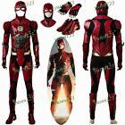 2017 Justice League The Flash Barry Allen Cosplay Clothing ComicCom Red Costume