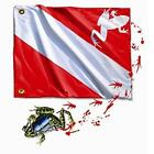 Amphibious Outfitters - Frog Flag-White T-Shirt for Scuba Divers and Snorkelers