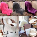 Soft Sheepskin Rug Chair Cover Warm Hairy Carpet Seat Pad Plain Skin Fur Plain
