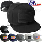USA American Flag Snapback Baseball Cap Tactical Operator Flat Hat Solid US Caps