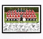 ARSENAL SIGNED PRINT PHOTO POSTER SQUAD 2017 2018 TEAM FRAMED OZIL PHOTO