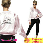 Pink Ladies Jacket 50s 1950s Grease Lady Satin Costume 50s Embroidery Letter