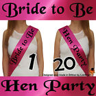 BLACK AND PINK HEN NIGHT PARTY DO BRIDE TO BE SASH GIRLS NIGHT ACCESSORIES New