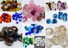 GENUINE CZECH GLASS FIRE POLISHED FIREPOLISHED GLASS BEADS - 4, 6, 8, 10MM