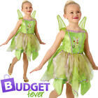 Tinkerbell Fairy Girls Fancy Dress Fairytale Peter Pan Childrens Kids Costume