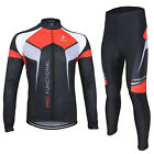 Cycling Fleece Sets Winter Thermal Warm Bicycle Clothes Windproof Riding Suit