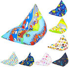 Large Children's Prints Pyramid Shaped Bean Bags Furniture BLACK FRIDAY DEALS