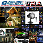 Solar Power R&G 16Pattern Moving LED Laser Projector Light Xmas Decor Waterproof