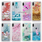 Dynamic Glitter Liquid Quicksand Protective Hard Case Cover For iPhone X 10