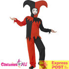Boys Twisted Jester Clown Costume Child Kids Halloween Party Circus Book Week