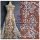New off white heavy cord embroidery lace fabric for wedding dress lace 51''