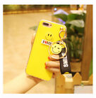 Luxury Cute Yellow Smiley Acrylic TPU Case Cover Fits iPhone X/8/7/Plus + Chain