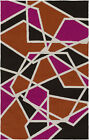 Hot Pink/Orange/Black Abstract Rug Table Tufted Carpet