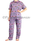 Pyjamas Ladies Summer PJs Short Sleeve 2pc set Pink Aztec 0580 Sz 8 10 12 14 16