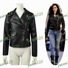 Jessica Jones Black Coat Jacket Motorcycle Punk Jacket Woman Cool Short Jacket