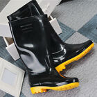 HOT men Rain Boots Anti Slip Waterproof Wellies Heeled Wellington Boots Shoes