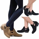 New Women Tcv Black Tan Western Ankle Booties Riding Low Heel Boots 5 To 10