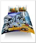 3D Vehicle Design Photo Print Digital Duvet Quilt Cover With Pillowcases UK Made