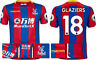 17 / 18 - MACRON CRYSTAL PALACE HOME SHIRT SS + PATCHES / GLAZIERS 18 = ADULTS