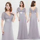 US Women Long Formal Evening Prom Party Bridesmaid Chiffon Cocktail Dress 09890