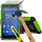 Heavy Duty Dual Shockproof Case Cover & Glass For Sony Xperia E4