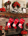 Personalised /Plain LUXURY PLUSH LINED RED Christmas XMAS Stocking FREE UK POST