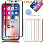 3 Pack For iPhone X 3D Curved Full Coverage Tempered Glass Screen Protector New