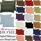 Oxford Pillowcases 1000 Thread Count 100% Hotel Egyptian Cotton Pillow Cover