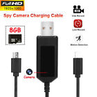 HD 1080P USB Charge Cable Spy Camera Phone Data Line Hidden Cam Video Record DBS