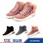 LADIES WOMEN ARMY COMBAT FLAT GRIP SOLE FUR LINED WINTER ANKLE BOOTS SHOES SIZE