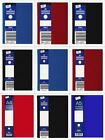 *OFFER* Just Stationery Feint Ruled Hardback Note Jotter Books (Red/Blue/Black)