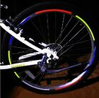 Bike Bicycle Cycling Rim WHEEL STICKER Reflector Saft Adhesive Strip Neon Colour