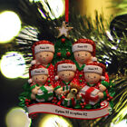 Внешний вид - Personalized Christmas Tree Ornaments Family of 2 3 4 5 6 Holiday Gift Ornament